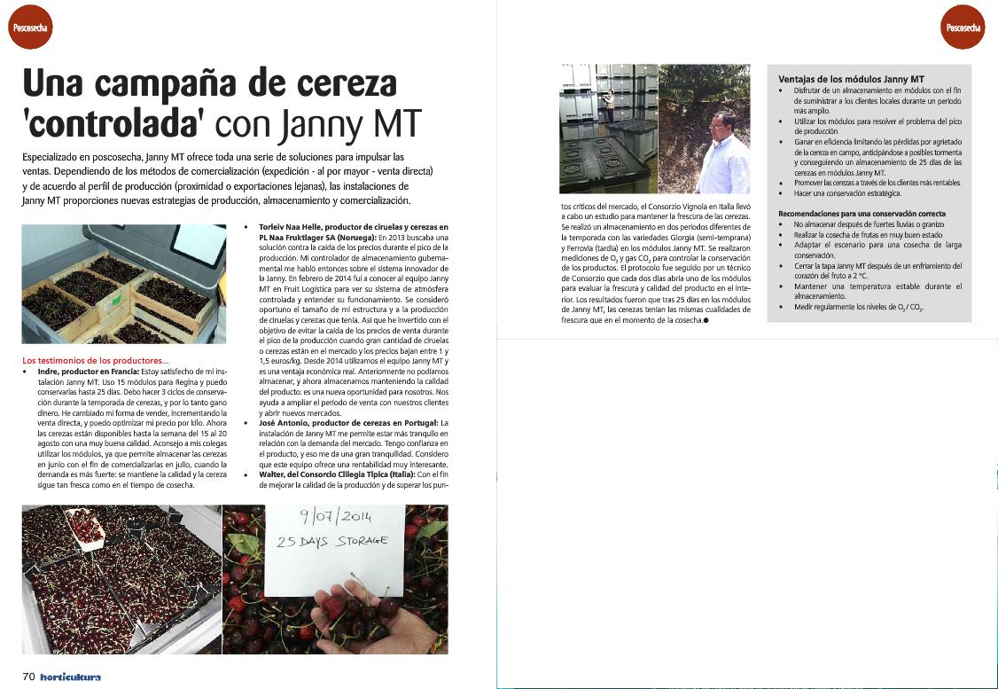 Janny MT / Erhaltung in der geprüften Atmosphäre: Früchte, Gemüse ...
